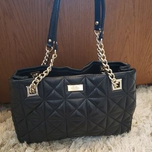 Kate spade black quilted leather handbag
